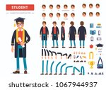 graduated student  boy or... | Shutterstock .eps vector #1067944937