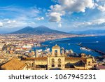 napoli  naples  and mount... | Shutterstock . vector #1067945231