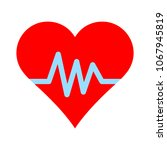 Heartbeat Symbol  Ecg Or Ekg...