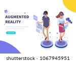 augmented reality concept... | Shutterstock .eps vector #1067945951
