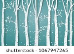 forest of winter season paper... | Shutterstock .eps vector #1067947265