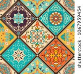 seamless colorful patchwork... | Shutterstock .eps vector #1067959454