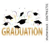 happy graduation background | Shutterstock .eps vector #1067961731