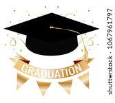 happy graduation background | Shutterstock .eps vector #1067961797