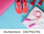 beautiful set of sporting... | Shutterstock . vector #1067962781