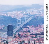 istanbul aerial view. panorama...   Shutterstock . vector #1067963855