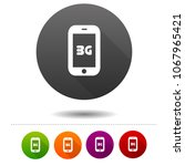 mobile telecommunications icon. ... | Shutterstock .eps vector #1067965421