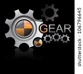LOGO gear wheels vector - stock vector