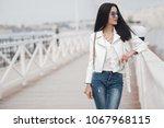 portrait young fashion woman... | Shutterstock . vector #1067968115
