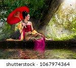 Thai Women Wear Thai Dress...