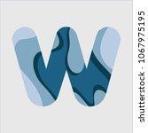 w water font vector template... | Shutterstock .eps vector #1067975195
