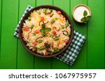 indian vegetable pulav or... | Shutterstock . vector #1067975957
