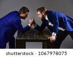 men in suit or businessmen with ... | Shutterstock . vector #1067978075