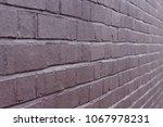 colourless  dark brick wall ... | Shutterstock . vector #1067978231