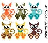 sweet little kittens set | Shutterstock .eps vector #106797839