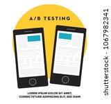 ab testing concept. vector... | Shutterstock .eps vector #1067982341