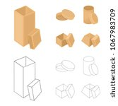 box  container  package  and... | Shutterstock .eps vector #1067983709