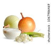 fresh  nutritious  tasty onion. ... | Shutterstock .eps vector #1067986469