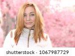 girl portrait  blonde hair ... | Shutterstock . vector #1067987729