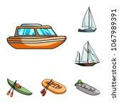 water and sea transport cartoon ...   Shutterstock .eps vector #1067989391
