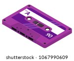 audio cassette isolated on... | Shutterstock .eps vector #1067990609