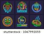 set of neon signs icons.... | Shutterstock .eps vector #1067992055