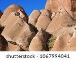cappadocia landscape in red... | Shutterstock . vector #1067994041