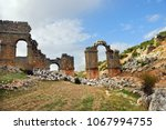 olba aqueduct is a ruined roman ... | Shutterstock . vector #1067994755