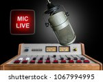 professional microphone and... | Shutterstock . vector #1067994995