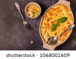 mac and cheese  american style... | Shutterstock . vector #1068002609
