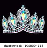 illustration crown tiara women... | Shutterstock .eps vector #1068004115