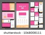 website template design with... | Shutterstock .eps vector #1068008111