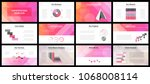 business presentation templates.... | Shutterstock .eps vector #1068008114