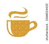 chocolate drink icon in gold... | Shutterstock .eps vector #1068014435