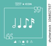symbol of music  notes.... | Shutterstock .eps vector #1068027557