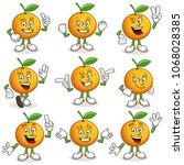 orange character pack  vector...   Shutterstock .eps vector #1068028385