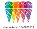 cute rainbow color set... | Shutterstock .eps vector #1068032819