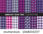 navy  deep pink and lilac... | Shutterstock .eps vector #1068033257