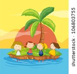 illustration of kids on an... | Shutterstock . vector #106803755