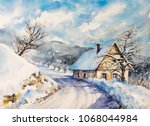 Winter Landscape With Old Hous...