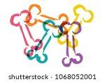 cute rainbow color set...   Shutterstock .eps vector #1068052001