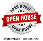 open house round isolated... | Shutterstock .eps vector #1068053954