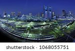shinagawa  tokyo  japan. night... | Shutterstock . vector #1068055751