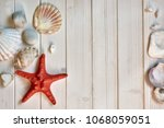 maritime decorations   stones ... | Shutterstock . vector #1068059051