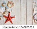 maritime decorations   stones ...   Shutterstock . vector #1068059051