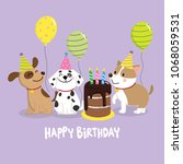 happy birthday greeting card... | Shutterstock .eps vector #1068059531