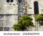 stone wall of the ancient... | Shutterstock . vector #1068060944