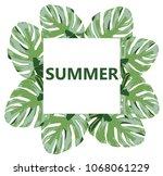 vector illustration of summer... | Shutterstock .eps vector #1068061229