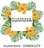 vector illustration of summer... | Shutterstock .eps vector #1068061379