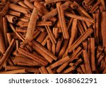 cinnamon sticks in a bazaar | Shutterstock . vector #1068062291